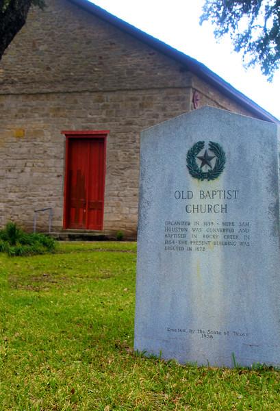 Brenham-Washington County Texas, Antique Rose Emporium, Independence Baptist Church