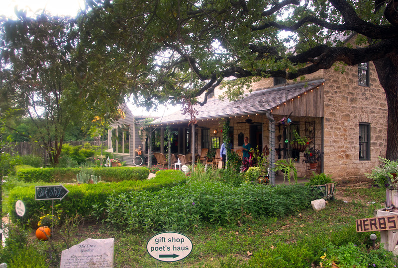 Fredericksburg Texas, Fredericksburg Herb Farm, View of Entrance at Noon