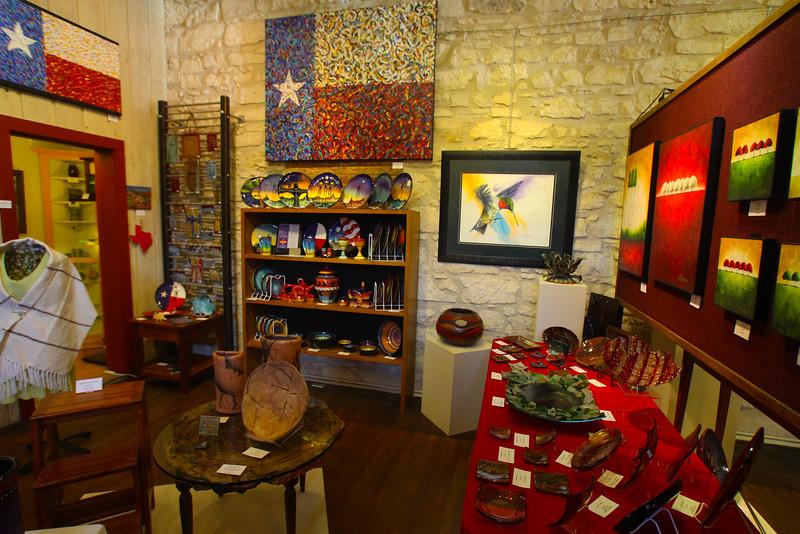 Fredericksburg Texas, Fredericksburg Art GalleryFredericksburg Texas, Artisans Gallery, Local Artists Exhibit