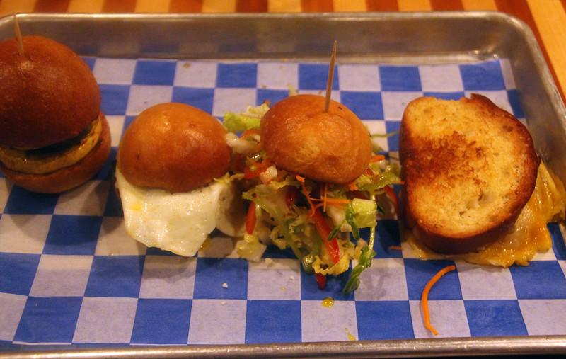 Fredericksburg Texas, Burger Burger, Slider Sampler