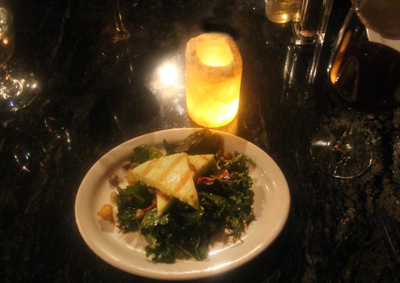 Fredericksburg Texas, Navajo Grill, Kale Salad, Grilled Cornmeal