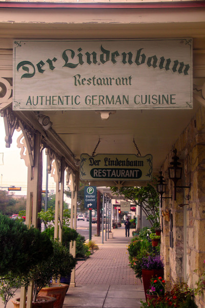 Fredericksburg Texas, German Restaurant