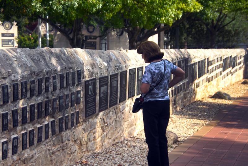 Fredericksburg Texas, National Museum of the Pacific War, Memorial Wall