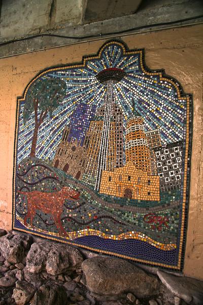 San Antonio Texas, River Walk Mosaic