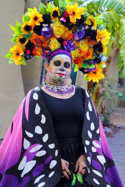 Beautiful costume, San Antonio Day of the Dead