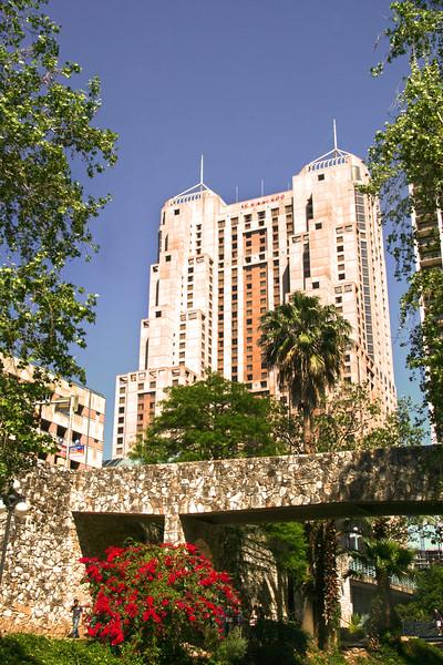 San Antonio Texas, View on Marriott Resort from River Walk
