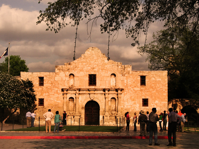 San Antonio Texas, The Alamo at Sunset