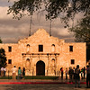San Antonio Texas, The Alamo at Sunset