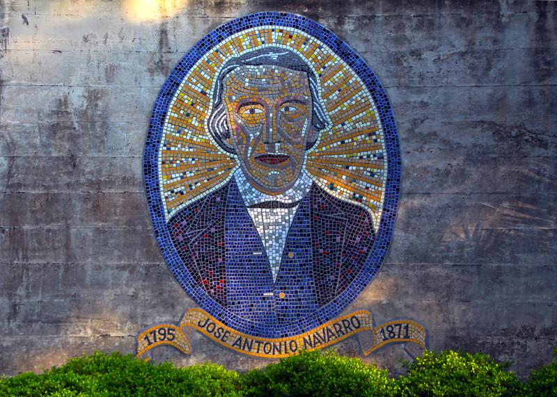 San Antonio Texas, River Walk Mosaic, Jose Antonio Navarro