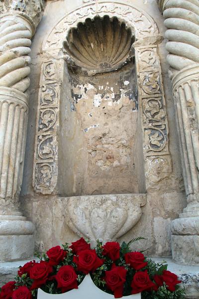 San Antonio Texas, Architectural Detail of the Facade of The Alamo