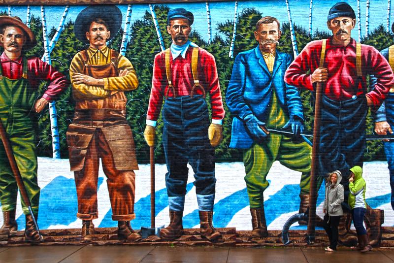 Ashland Wisconsin, Historic Mural Capital of Wisconsin, Working Man Mural