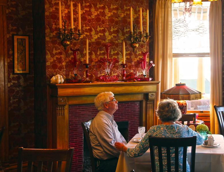 Bayfield Wisconsin, Old Rittenhouse Inn, Couple at Breakfast