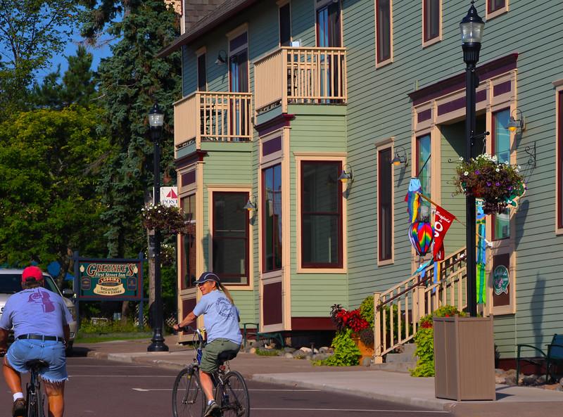Bayfield Harbor Wisconsin, Enjoying a Morning Bicycle Stroll