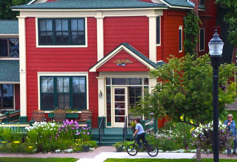 Bayfield Wisconsin, House and Garden Scene