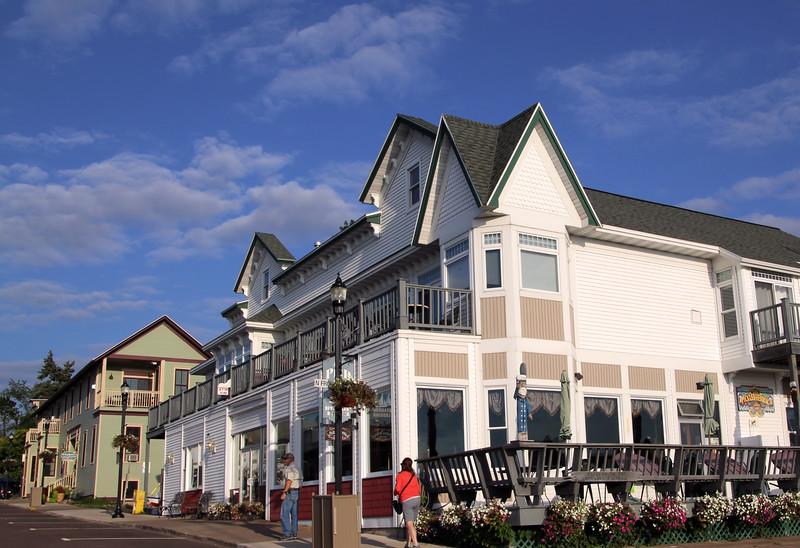 Bayfield Wisconsin, Pier Plaza with Pedestrians