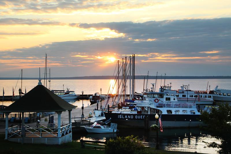 Bayfield Harbor, Wisconsin, Marina at Dusk