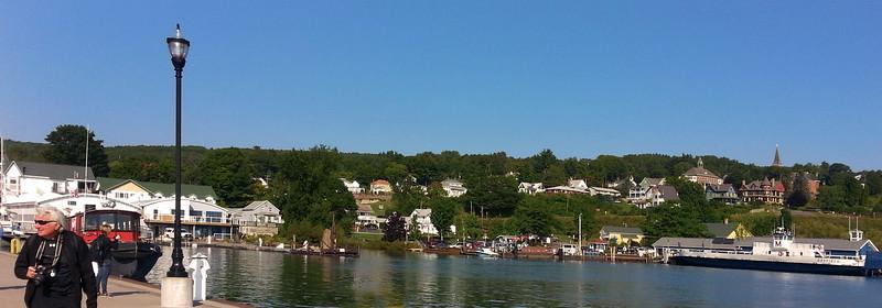Bayfield Harbor Wisconsin, Panorama on Pier