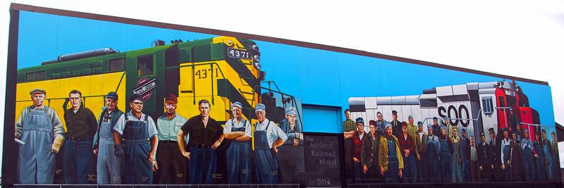 Ashland Wisconsin, Railroad Mural