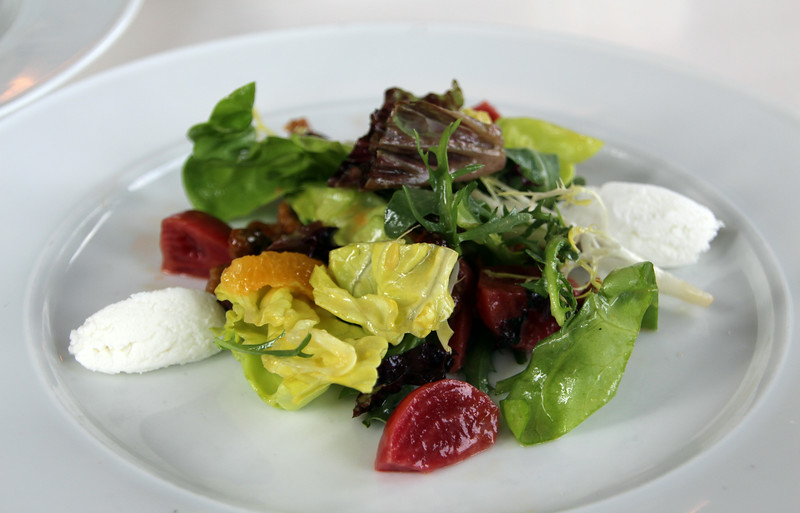 Elkhart Lake Wisconsin, Lola's On The Lake, Candy Striped Beet Salad