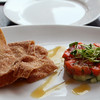 Elkhart Lake, Paddock Club, Sockeye Salmon Tartare, Cucumber, Won Ton Chips