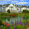 Elkhart Lake Wisconsin, Osthoff Resort with Flowers