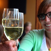 Elkhart Lake Wisconsin, Lake Street Cafe, White Wine Toast