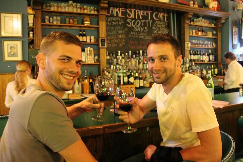 Elkhart Lake Wisconsin, Lake Street Cafe, Wine Scene at Bar