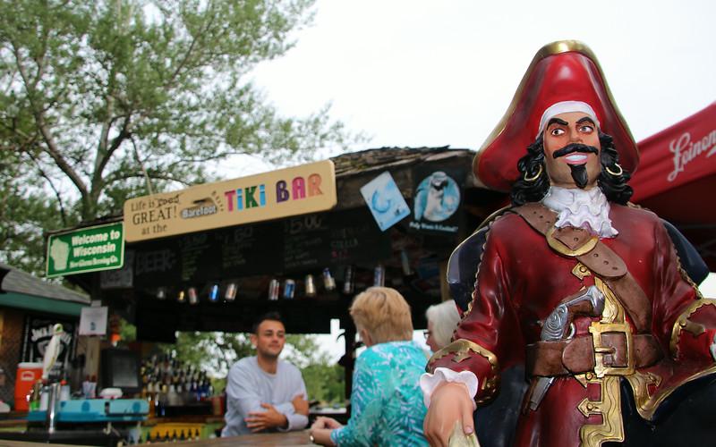 Elkhart Lake Wisconsin, Barefoot Tiki Bar, Pirate
