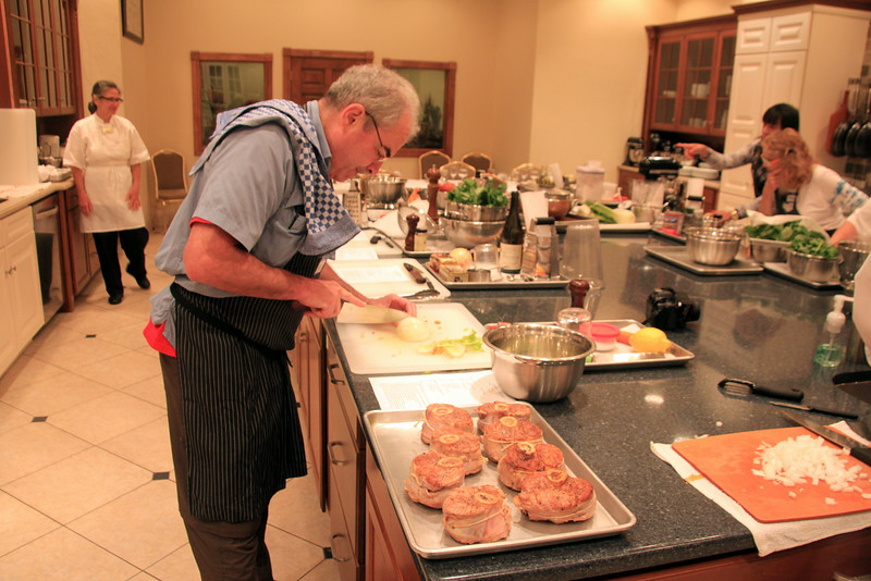 Elkhart Lake Wisconsin, Cooking School, Osso Buco Preparation