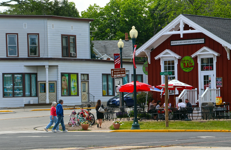 Elkhart Lake Wisconsin, Street Scene, Off the Rail Cafe