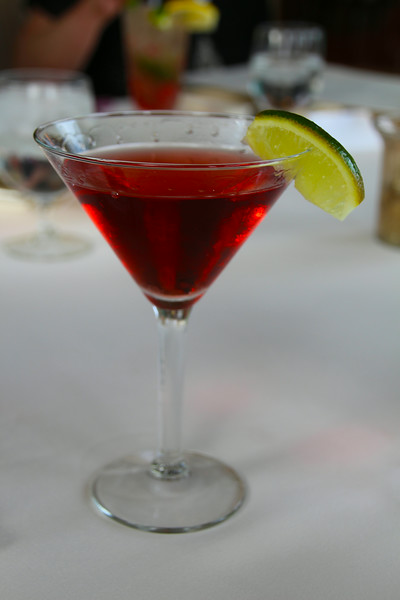 Elkhart Lake Wisconsin, Lola's On The Lake, Pomegranate Martini