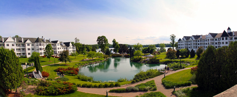Elkhart Lake Wisconsin, Osthoff Resort Panorama