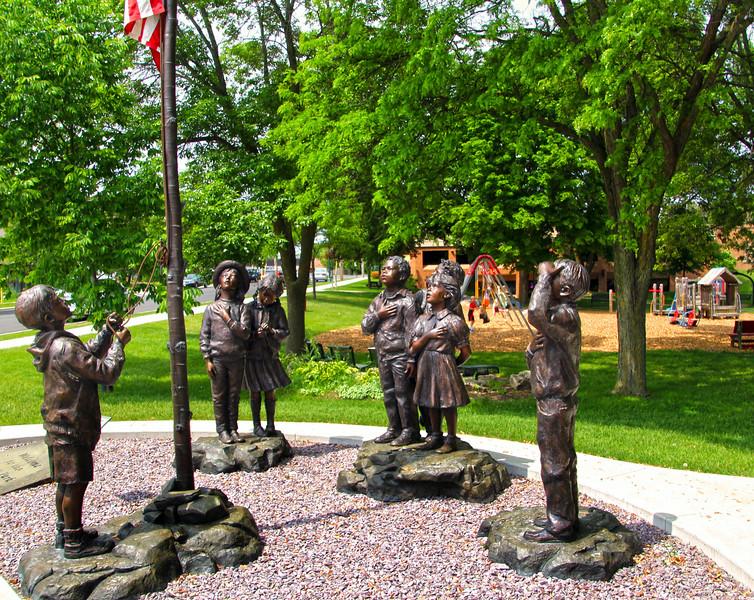 Elkhart Lake Wisconsin, Village Park, Pledge of Allegiance