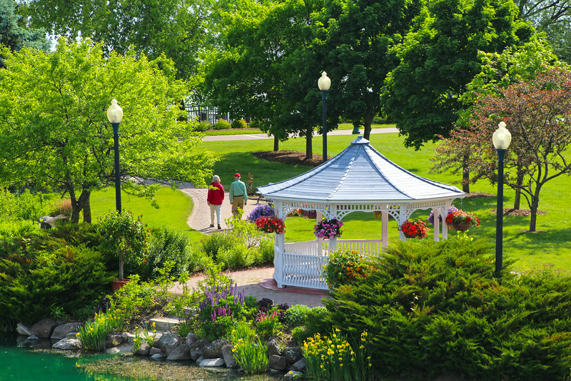 Elkhart Lake Wisconsin, Gazebo and Gardens, Osthoff Resort