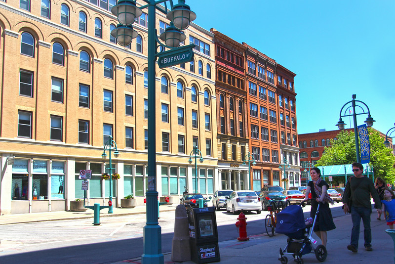 Milwaukee Wisconsin, Family Strolling on Buffalo Street