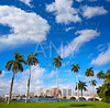 Palm Beach skyline  royal Park bridge Florida