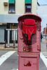 Brooklyn old Fire Alarm in red in Greenpoint NY