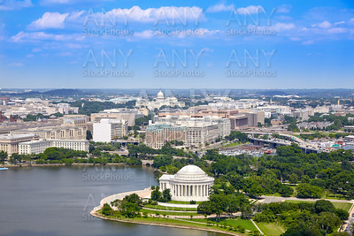 Washington DC aerial Thomas Jefferson Memorial