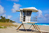 Palm Beach beach baywatch tower in Florida