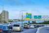 Miami traffic driving to Miami beach Florida