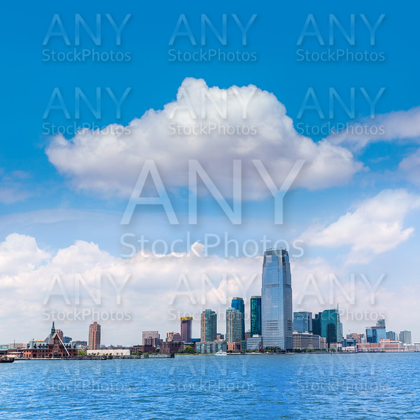 New Jersey city skyline at Hudson river New York