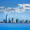 New Jersey skyline from Hudson River USA