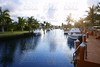 Florida Pompano Beach waterway in evening