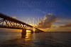 Florida Keys old bridge sunset at Bahia Honda