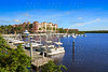 Naples Bay marina in florida USA