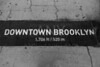 Downtown Brooklyn sign painted on floor in NY