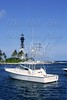 Florida Lighthouse Pompano Beach boats