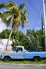 Key West vintage parked car in South Florida
