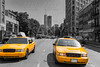 New York West Village in Manhattan yellow cab