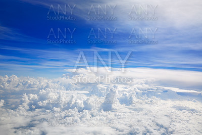 Cumulus sea of clouds view from aerial view